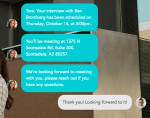 AI to schedule interviews